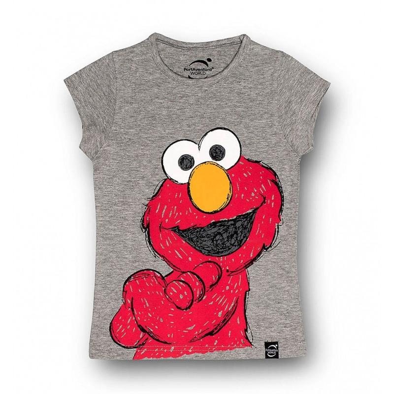 cdbe4dc7a Camiseta gris de Elmo para niñas - Tienda Online PortAventura®